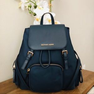 30ce96b7b110 Michael Kors. Michael kors Abbey Large Cargo Backpack Navy NWT